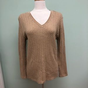 Tommy Hilfiger | Women's Cable Knit Sweater | Tan